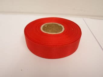 Poppy Bright Red Grosgrain ribbon Ribbed Double sided, 3mm, 6mm 10mm 16mm 22mm 38mm 50mm